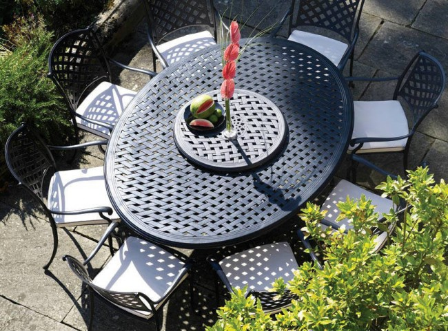 Black Aluminium Dining Set