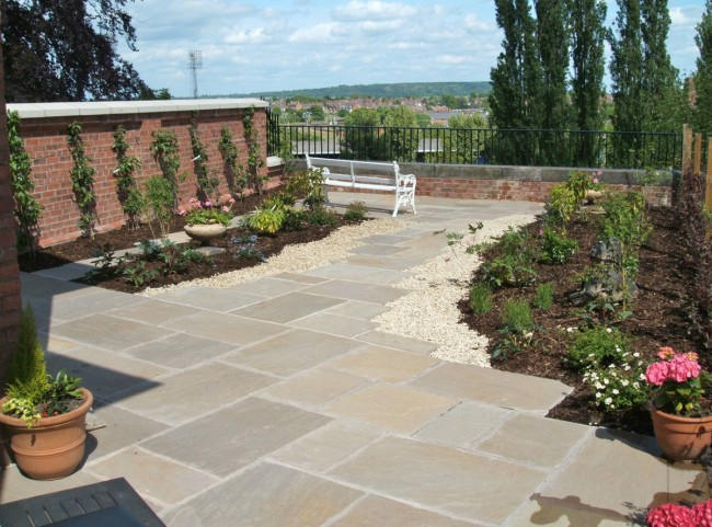 Natural Stone Paving Terrace