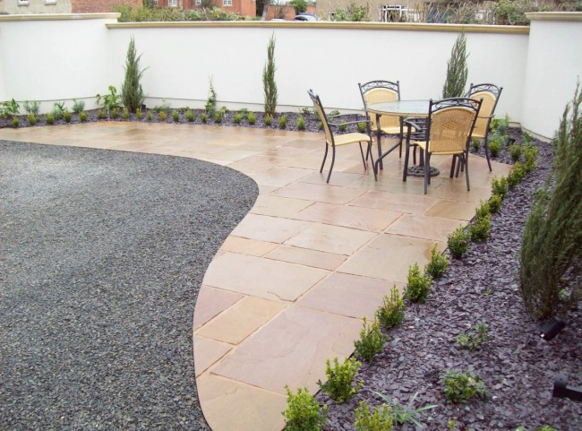 Natural Stone Paving Seating Area