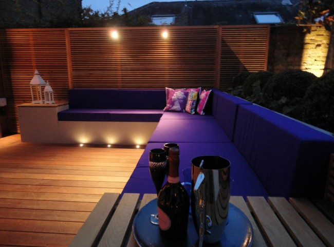 Purple Modular Cushions