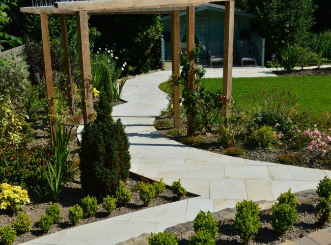 Natural Stone Curved Path