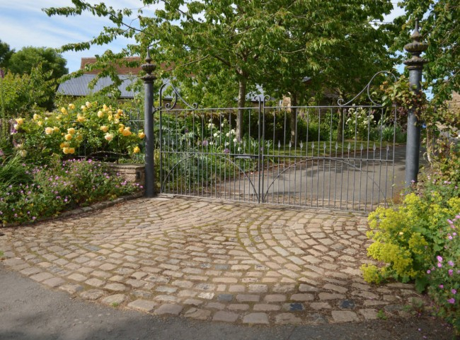 Cobble Drive and Wrought Iron Gates