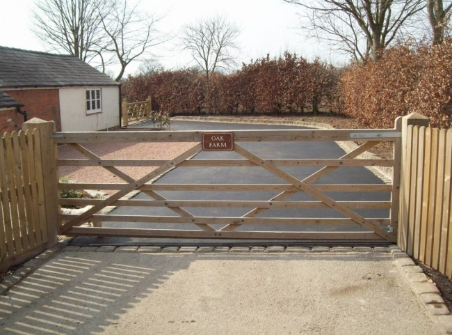 Traditional Wooden Gate