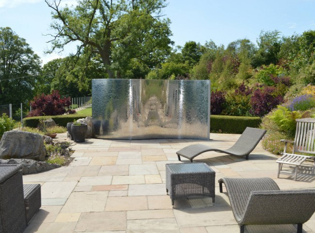 Natural Stone Paving with Water Feature