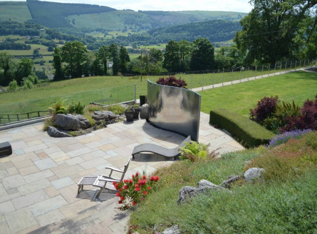 Large Stainless Steel Water Feature