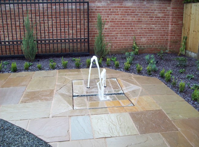 Water Feature in Paving Stones